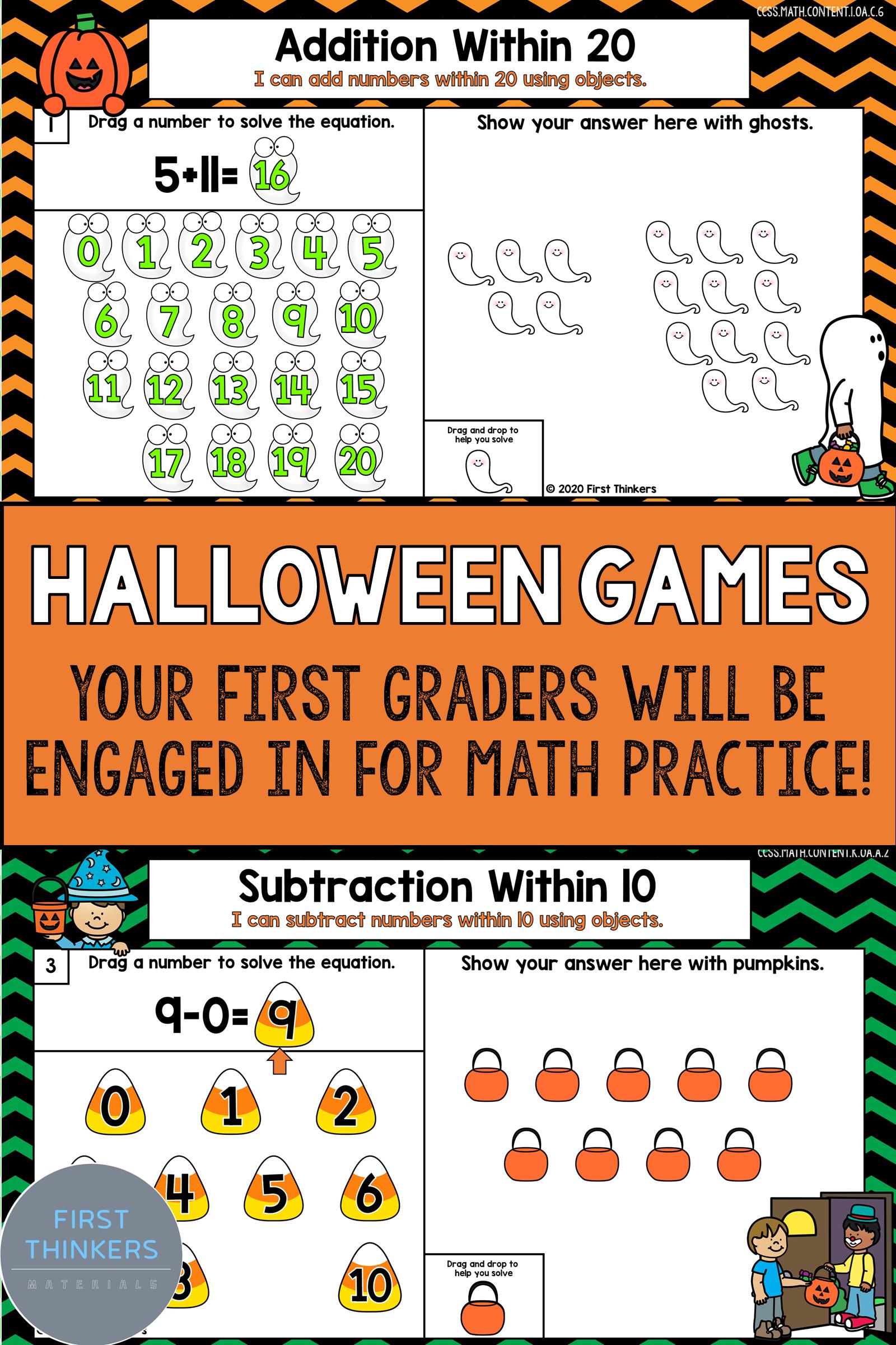 Predownload: Halloween Math Games 1st Grade Seesaw Google Classroom Money Math Worksheets Halloween Math Games Math [ 2400 x 1600 Pixel ]