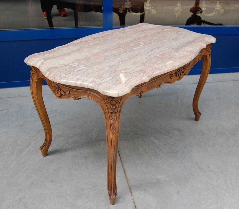 Tavolino Da Salotto In Marmo.Tavolino Da Salotto In Faggio Stile Luigi Xv Provenzale Con Sculture
