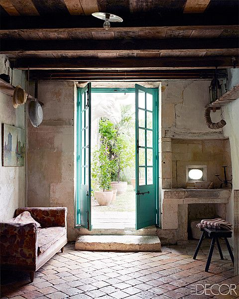 french-farmhouse Love those doors. Bring on the holiday in the French Countryside next year...