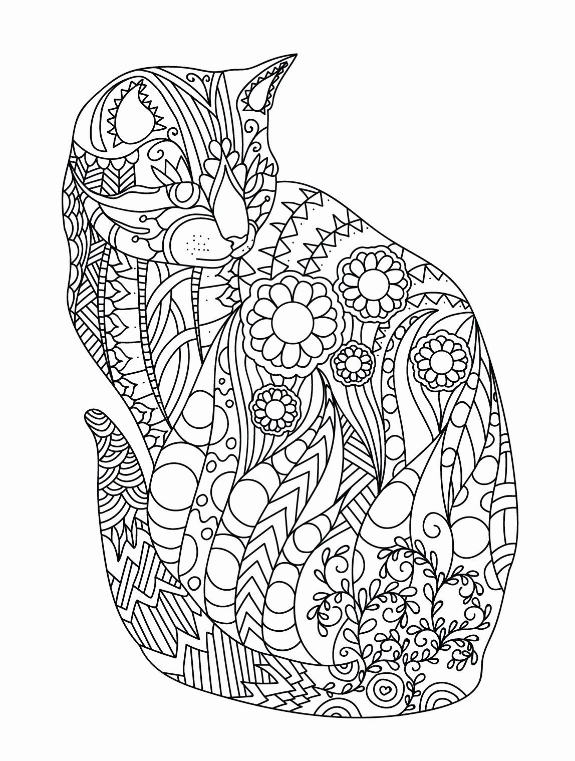 Coloring Pages Nature Animals Lovely Of Zentangled Animal Coloring Pages Sabadaphnecottage Cat Coloring Book Cat Coloring Page Emoji Coloring Pages