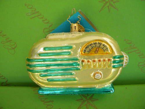 "Christopher Radko ""1MEMORY Waves "" Ornament 1013331   eBay"