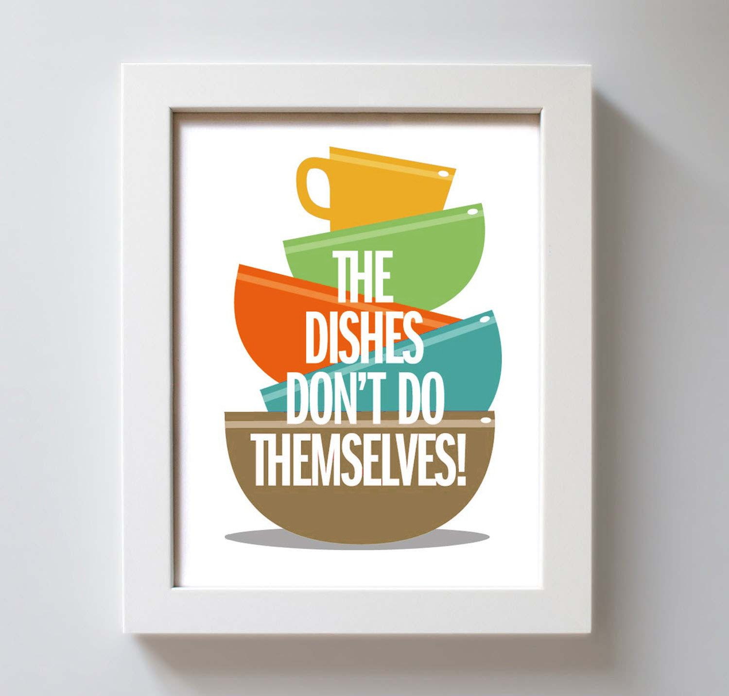 Colorful Kitchen Decor Pictures: Art For Kitchen Art Print Fiestaware Washing Dishes