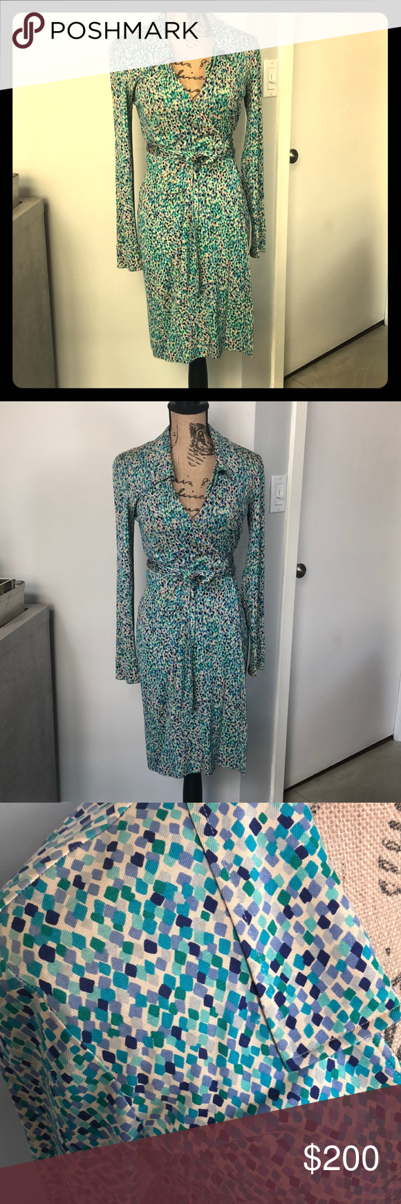 Diane Von Furstenburg Vintage Wrap Dress Vintage Wrap Dress Wrap Dress Dvf Wrap Dress [ 1740 x 580 Pixel ]