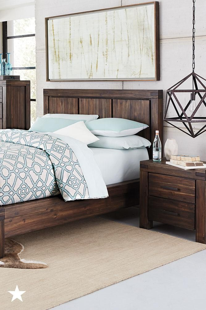 The Acacia Wood And Textured Finish On This Avondale Furniture Will Provide Just The Rustic Bedroom Furniture Bedroom Collections Furniture Home Decor Bedroom