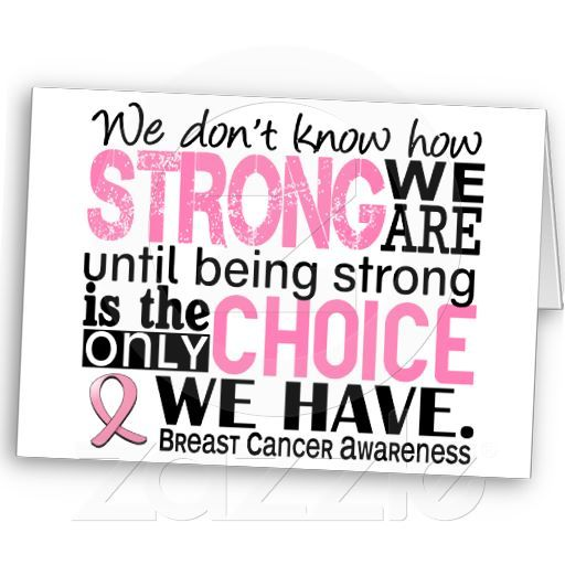 Breast cancer how strong we are card cards breast cancer how strong we are card m4hsunfo
