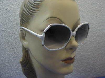 vtg-70s-80s-Big-Wht-Gld-Fashion-Sunglasses-Eyeglasses | eBay