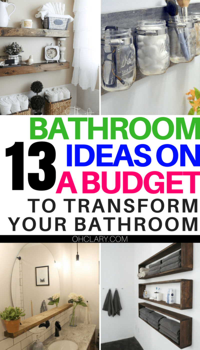 12 Diy Bathroom Decor Ideas On A Budget You Can T Afford To Miss Out On Diy Bathroom Decor Simple Bathroom Decor Bathroom Update