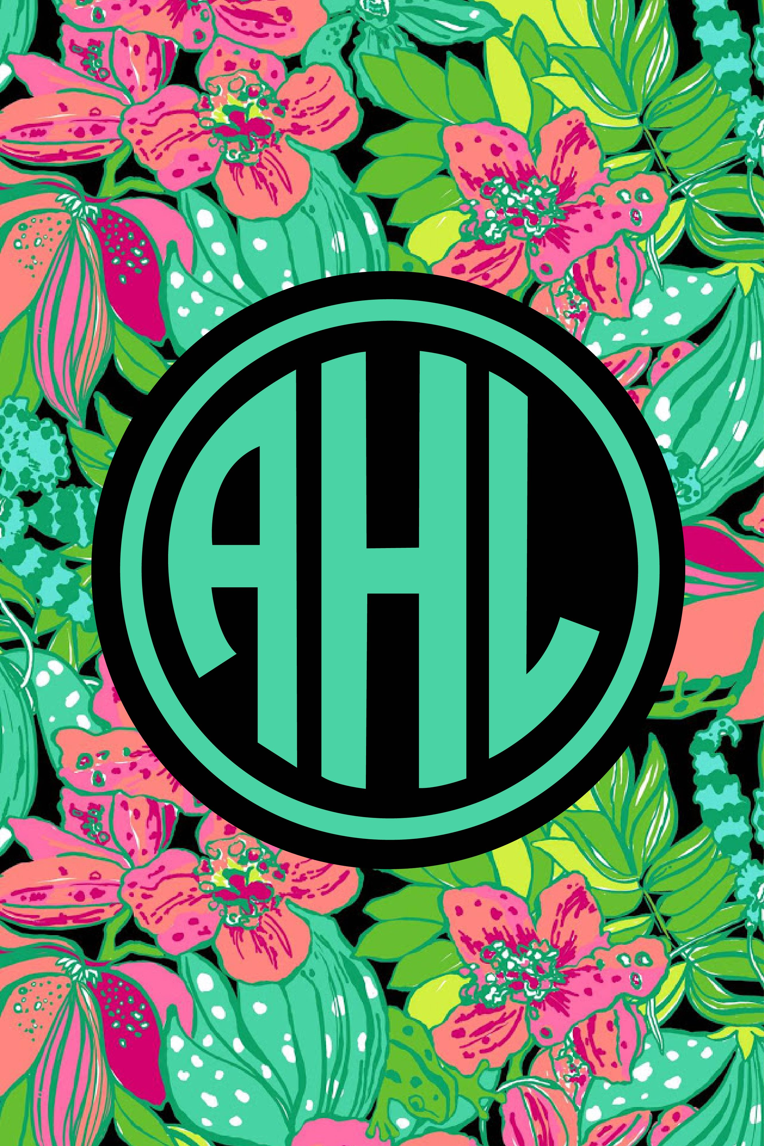Lilly Pulitzer monogram iPhone wallpaper! Choose from lots
