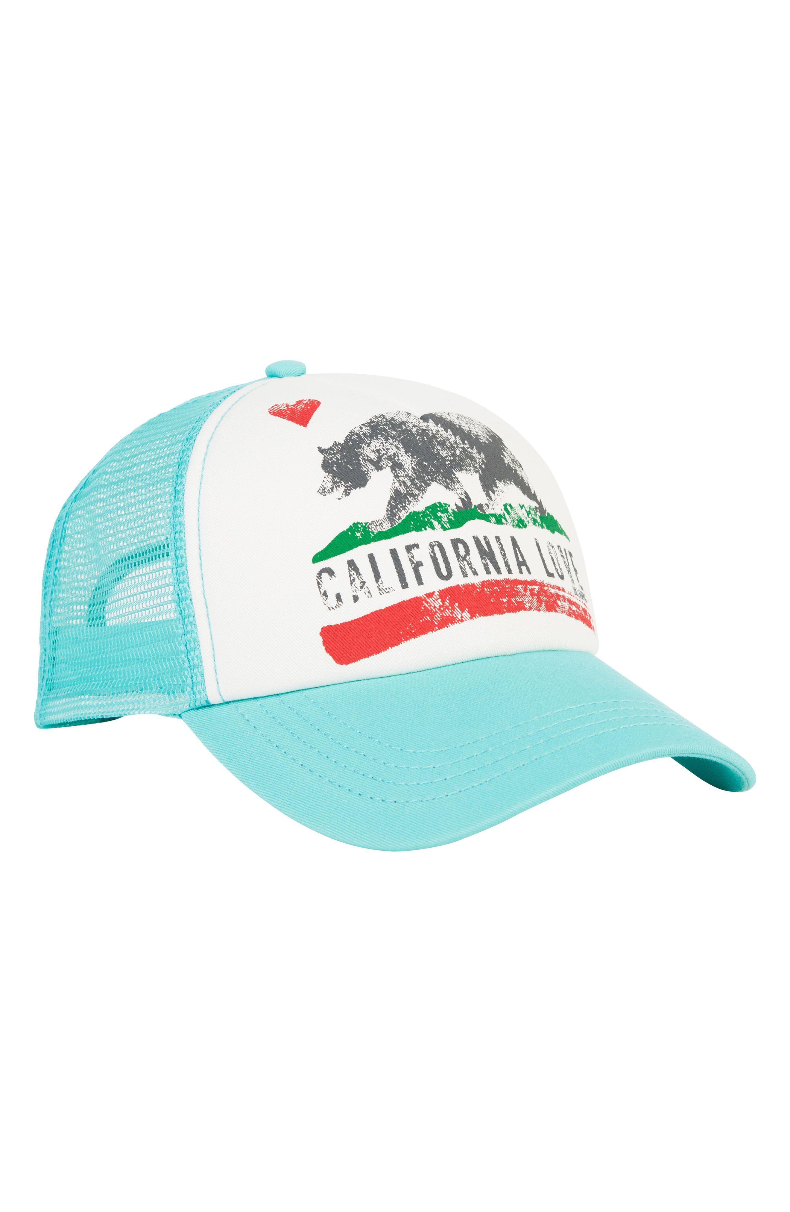 0206c572dd12c4 Junior Women's Billabong 'California' Trucker Hat - Blue/green ...