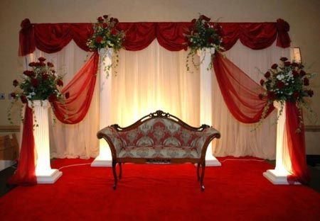 Exceptional Red And White Wedding Decorations