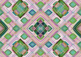 Quadrate im Quadrat - geometrisches Muster in tollen Pastellfarben von Christine Bässler