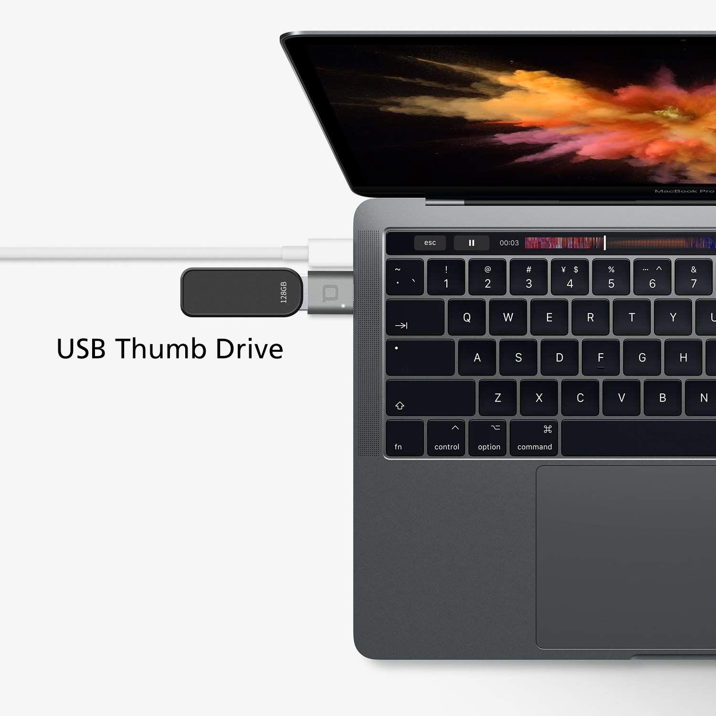 nonda USB Type C to USB 3.0 Adapter Thunderbolt 3 to USB Adapter Aluminum