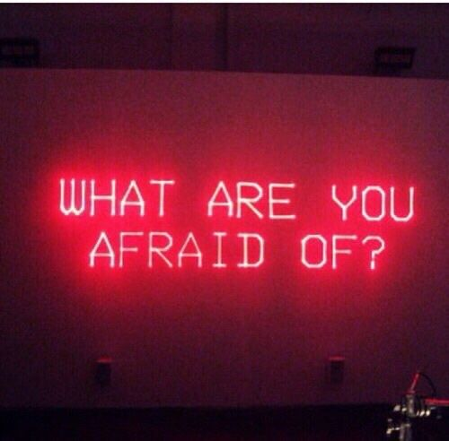 afraid, red, and quote image