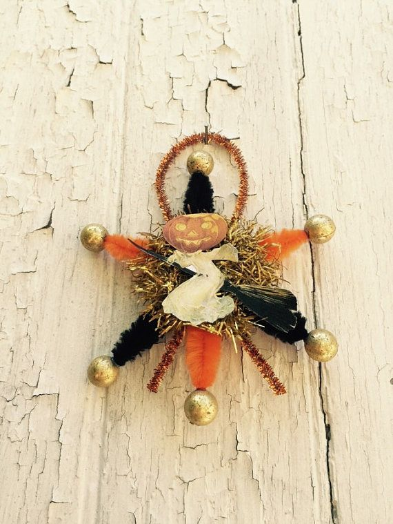 Old Fashioned Halloween Ornament by shellyellie on Etsy