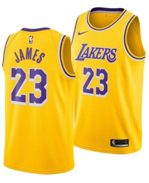 6187370d8452 Nike Men s LeBron James Los Angeles Lakers Icon Swingman Jersey - Yellow XXL