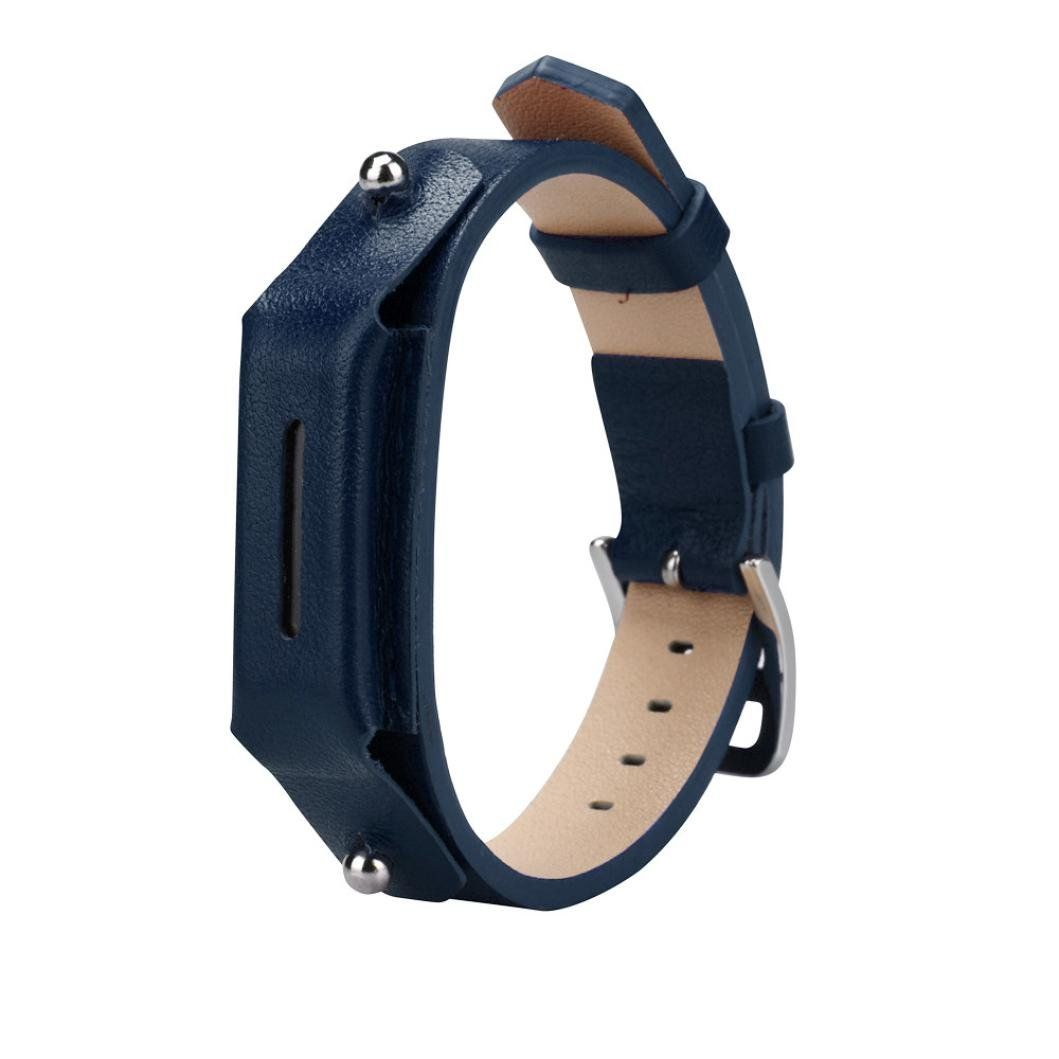 Allywit Luxury Leather Watch band Wrist strap For Fitbit Flex 2 Smart Watch (Navy). 100% Brand new and high quality., Softness is moderate, wear very comfortable. Compression molding, sturdy and durable ,The size can be adjusted according to the circumstance of individual wrist. Quantity:1 ,Material: Leather, Suitable for the wrist size: about 130-180mm. Compatible for Fitbit Flex 2 Smart Watch. Package Include: 1pc Wristband(without retail package).