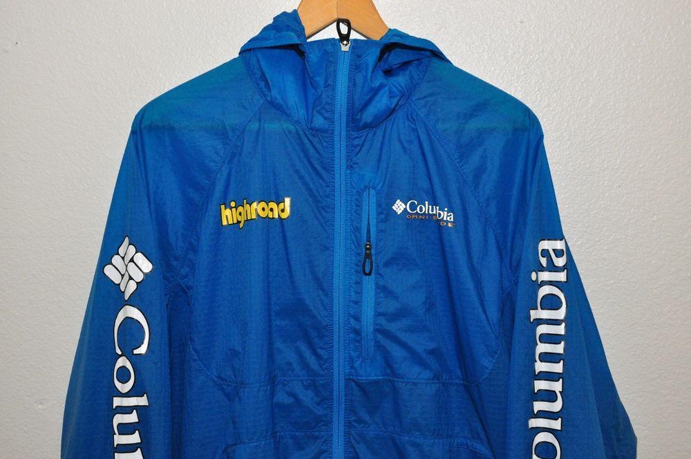 4e7c6445ebd53 COLUMBIA Omni-Shade Highroad Track Jacket Coat Mens XL blue running cycling   Columbia  BasicJacket