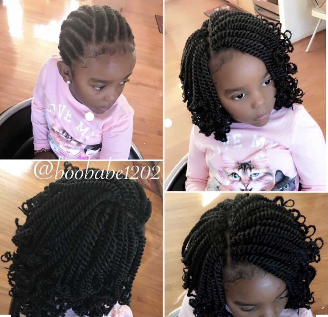 Protective Styling With Gorgeous Crochet Hair Get It Here Https Amzn To 2lbtzds Affiliate Link Prote Kids Braided Hairstyles Braids For Kids Hair Styles