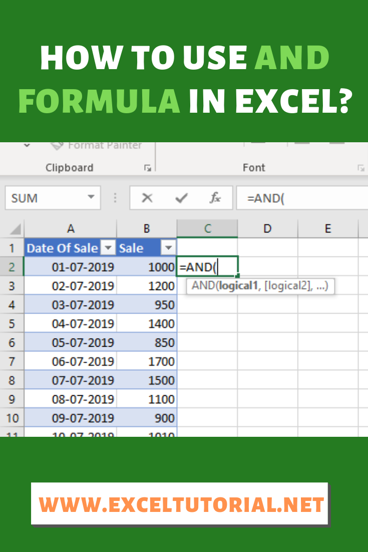 How To Use And Formula In Excel Excel Hacks Microsoft Excel
