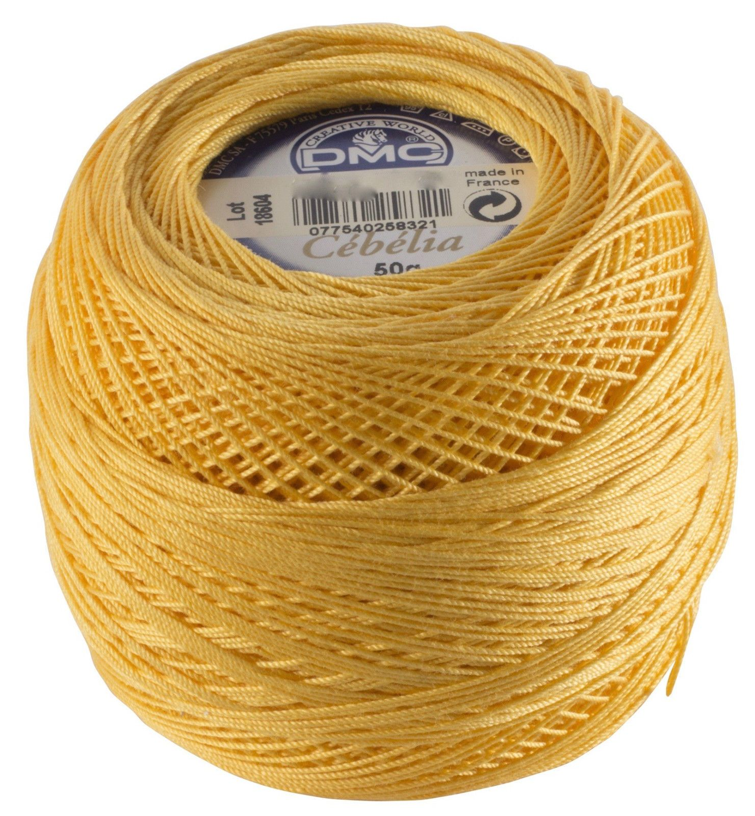 50 Gram Variegated Green Pale Yellow Brown Yarn Art Tulip Size 10 Microfiber Thread