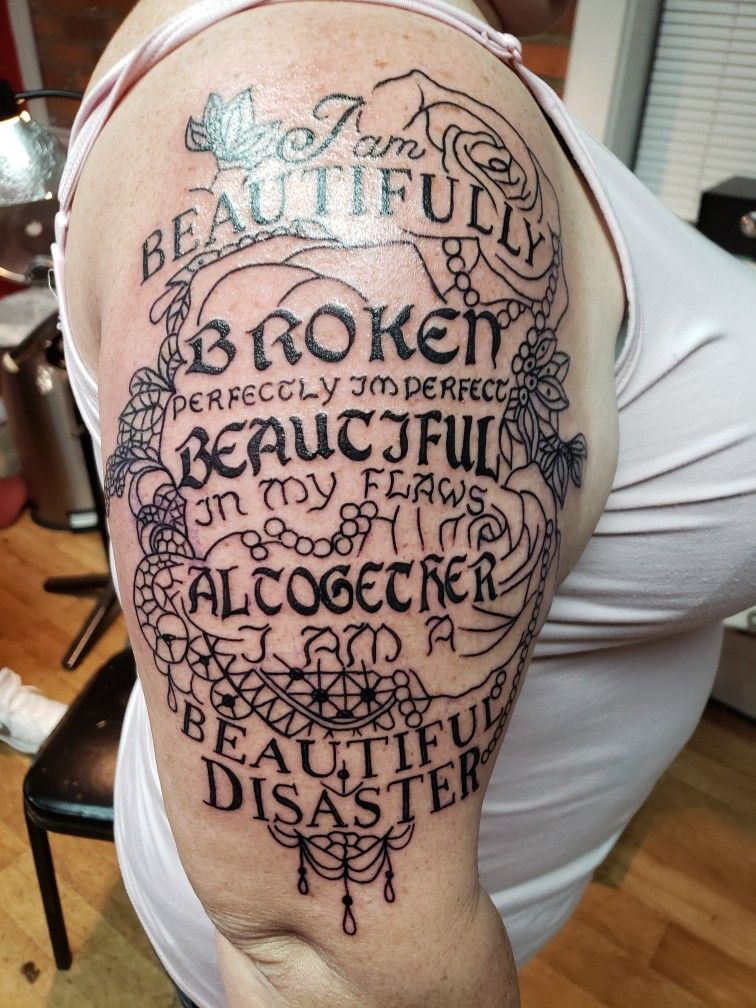 Beautifully Broken Tattoo : beautifully, broken, tattoo, Beautifully, Broken, Tattoo, Quotes,, Tattoos,