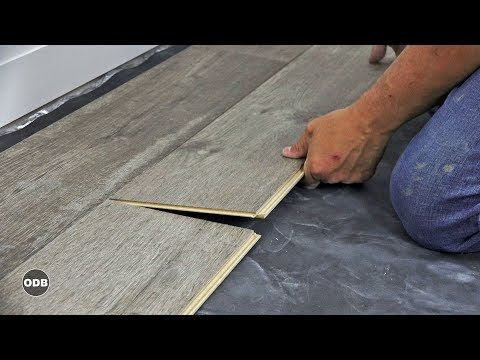 How To Install Laminate Plank Flooring Youtube Dom Pinterest