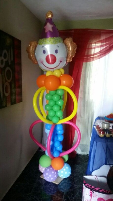Globos Payaso Happy Day Pinterest Globo Columnas Y