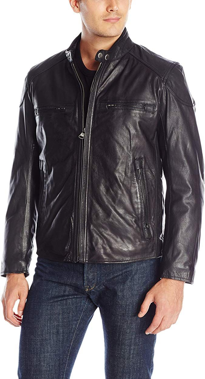 Marc New York by Andrew Marc Men's Mac CalfLeather Moto
