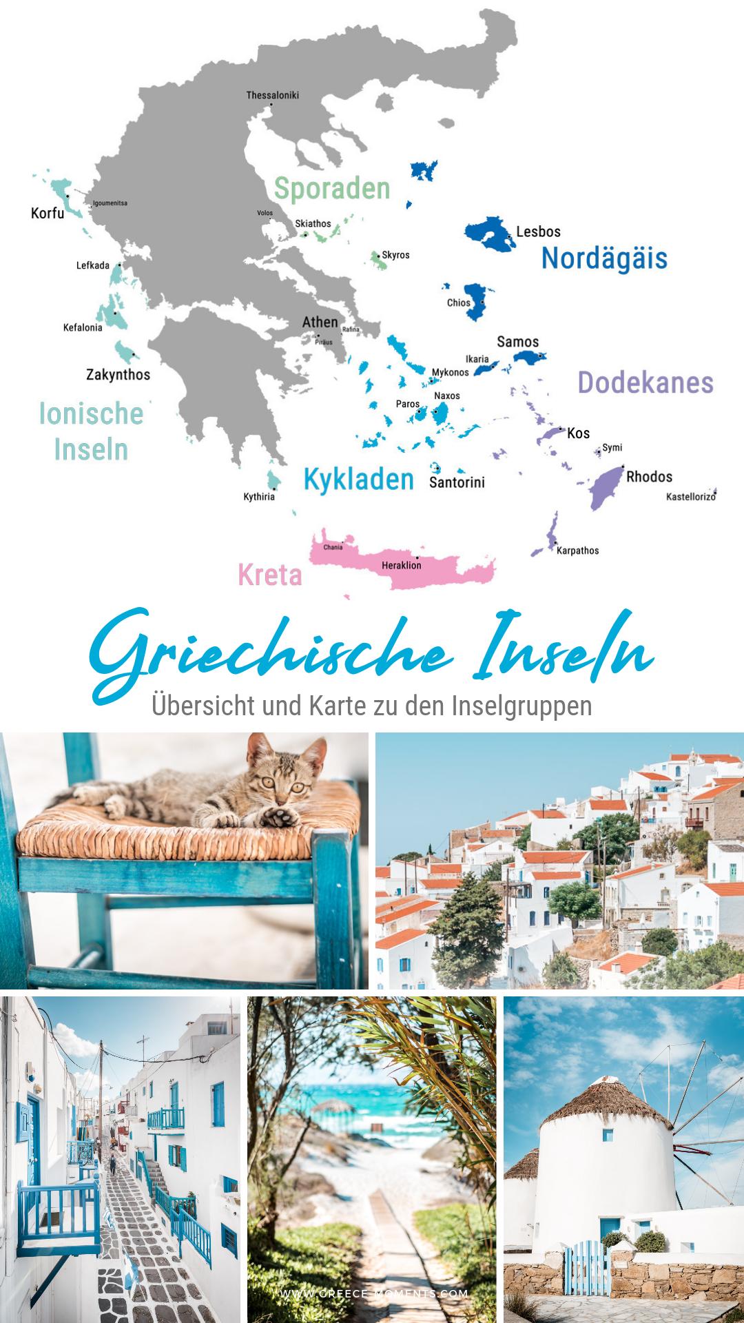 Griechische Inseln Ubersicht Karte Der Inseln Griechenlands Griechische Inseln Griechenland Urlaub Griechenland Inseln