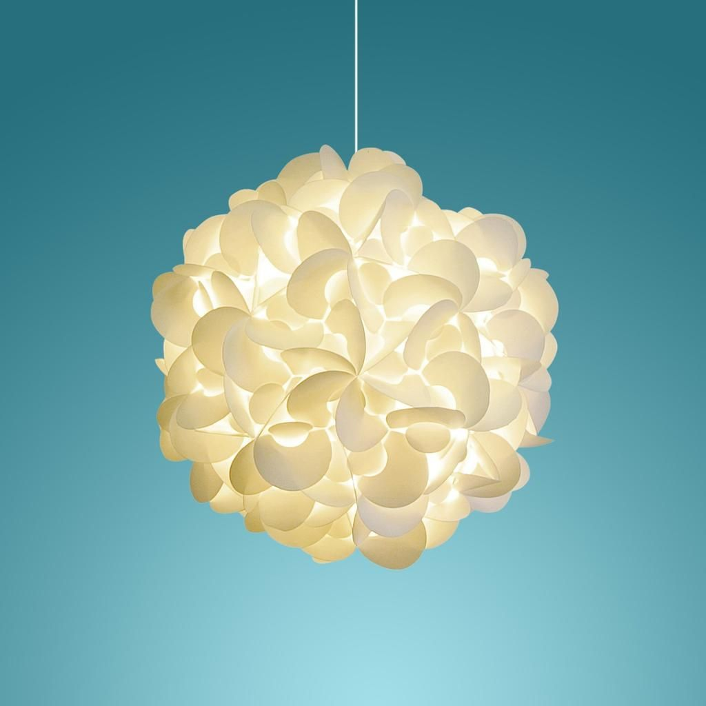 Deluxe rounds hanging pendant light warm white glow pendant