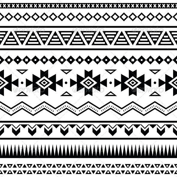 Aztec Design For Arm Mexican Pattern Tribal Patterns Seamless