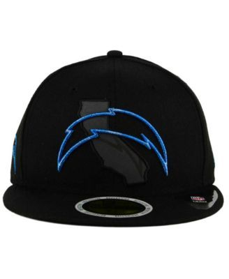 sports shoes 12dac d98c4 New Era Los Angeles Chargers State Flective Metallic 59FIFTY Fitted Cap -  Black 6 7 8