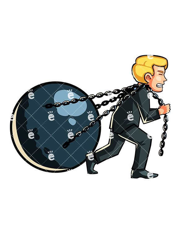 Pulling The Chain Interesting A Man Pulling A Huge Ball On Chains  Friendlystock  Blonde Man Inspiration