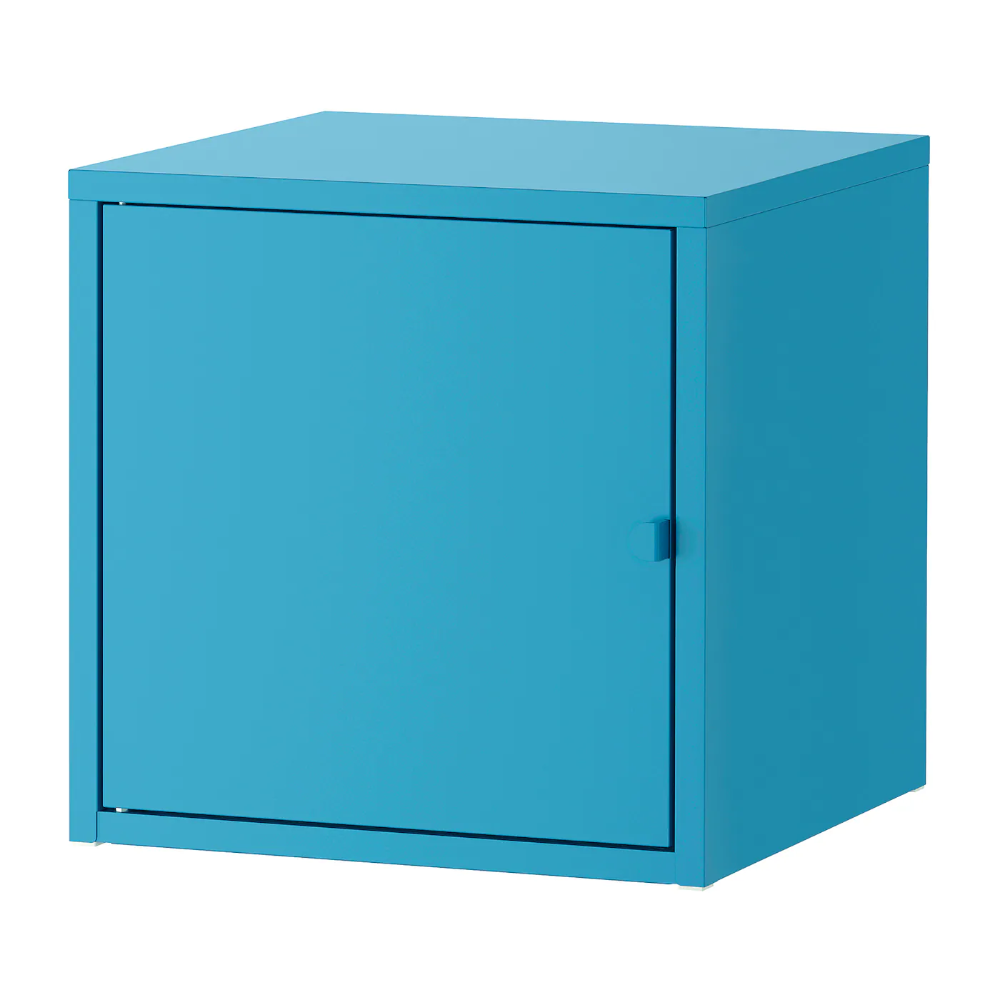 Lixhult Cabinet Metal Blue 133 4x133 4 Ikea In 2021 Unexpected Storage Ikea Wall Mounted Cabinet