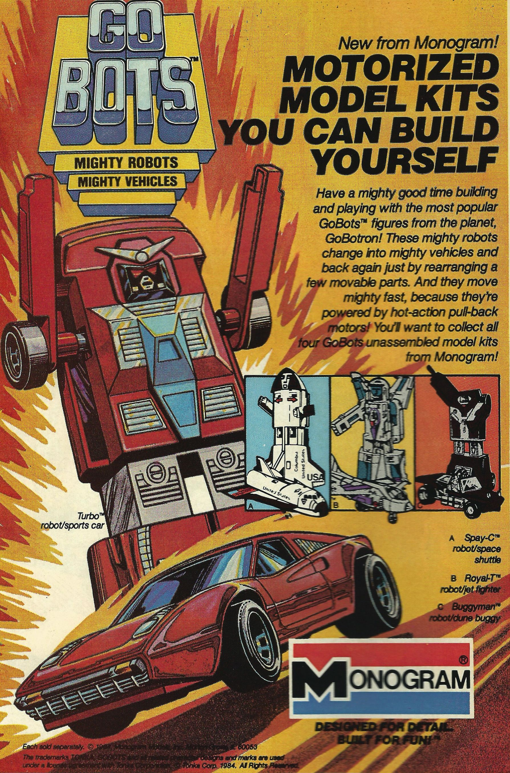Monogram - Go Bots Advert from a comic