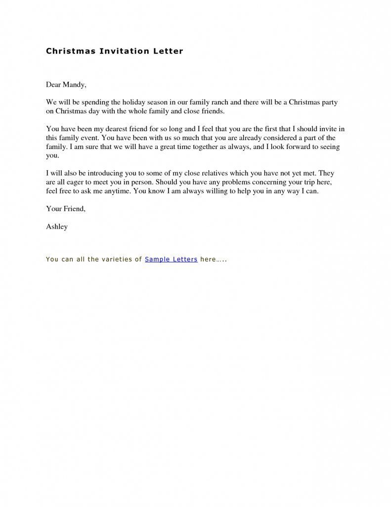 sample of invitation letter