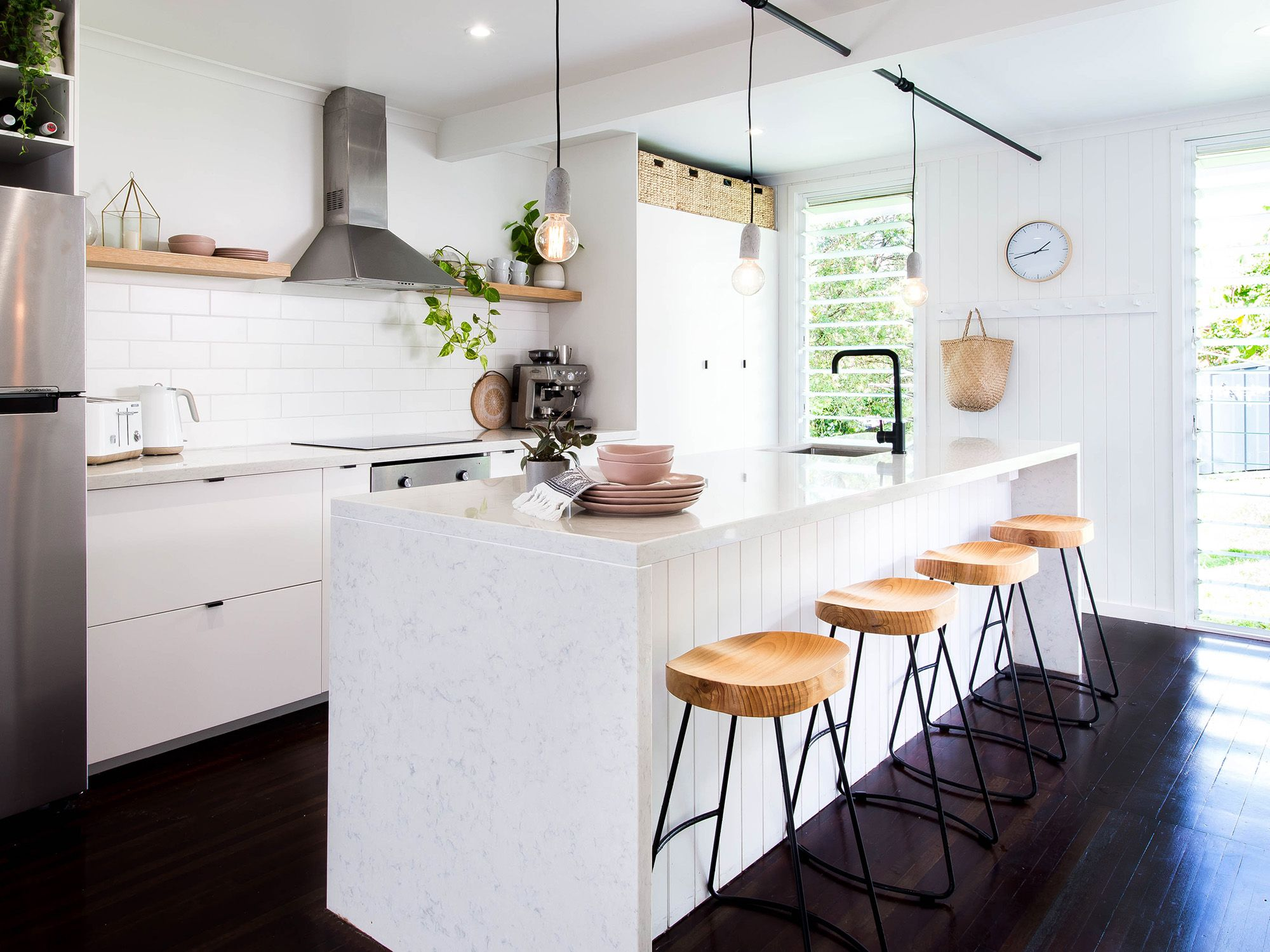 Boho Kitchen, Coastal Kitchen, VJ Panelling, Industrial