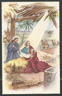 santino postale antico de la Sagrada Familia image pieuse holy card estampa