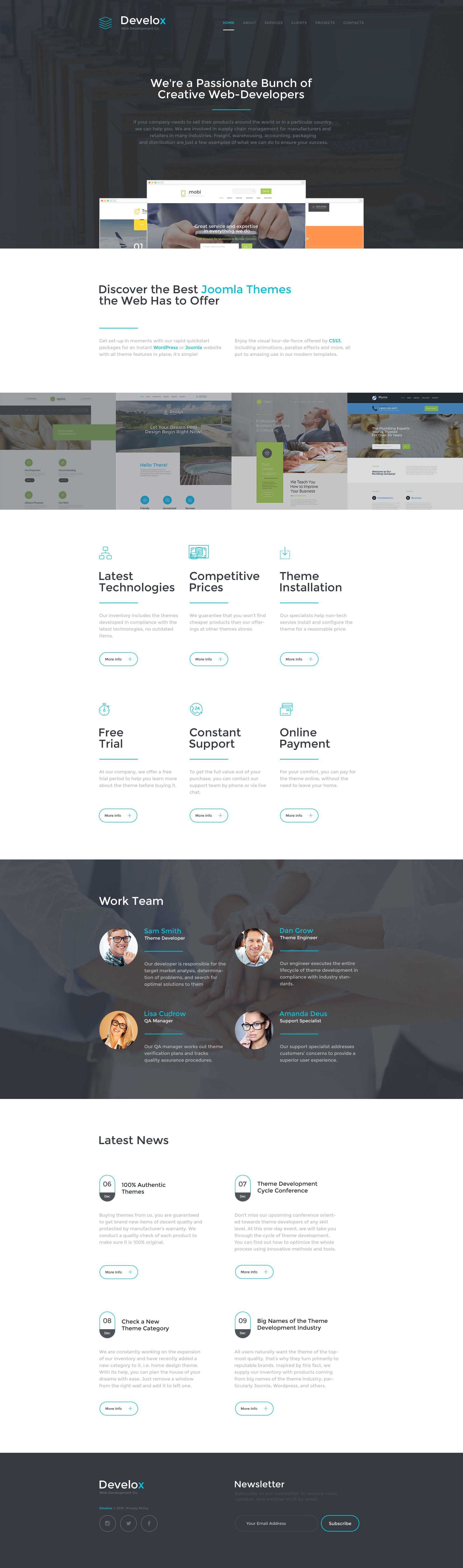 Develox Website Template Pinterest Web Design Company Template - Web development company templates