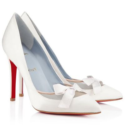 f11bf2d0eb91 Christian Louboutin Love Me 100mm White Satin Bridal Shoes
