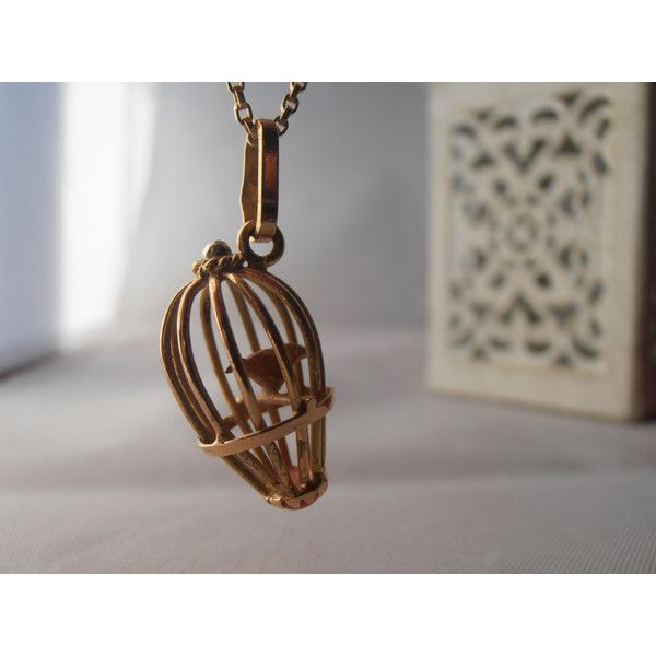 Vintage 18k yellow gold bird in a cage pendant 250 chf liked vintage 18k yellow gold bird in a cage pendant 250 chf liked on mozeypictures Gallery