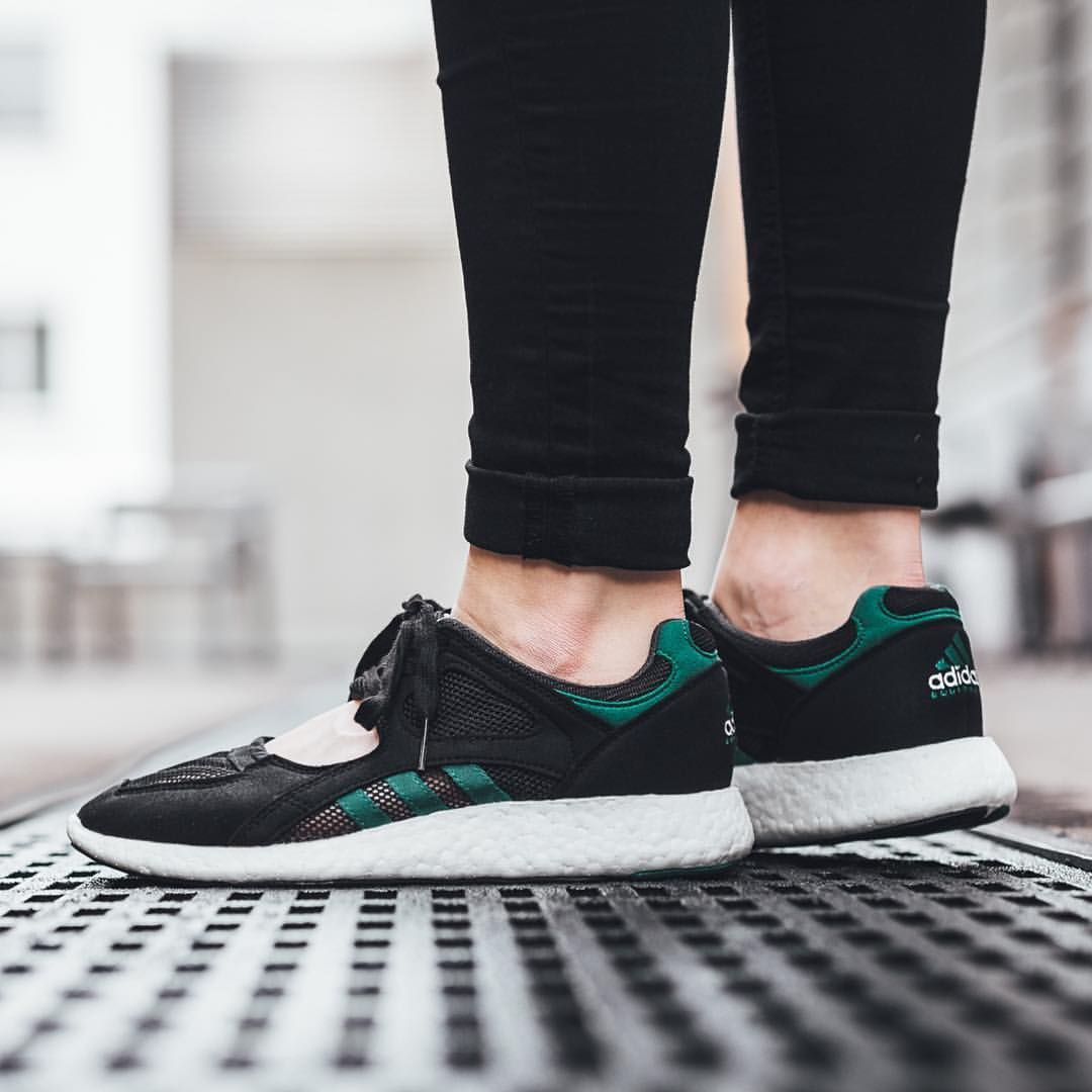 adidas Equipment Racing 91 Boost: Green/White/Core Black