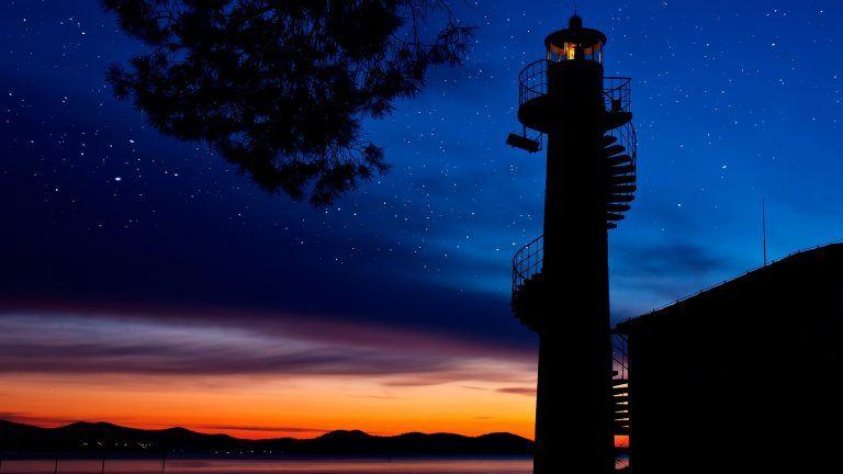 Oštri Rat Lighthouse in Zadar, Croatia