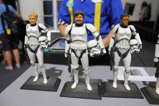 3D Printed customisable Storm Trooper Figures. Stormtrooper