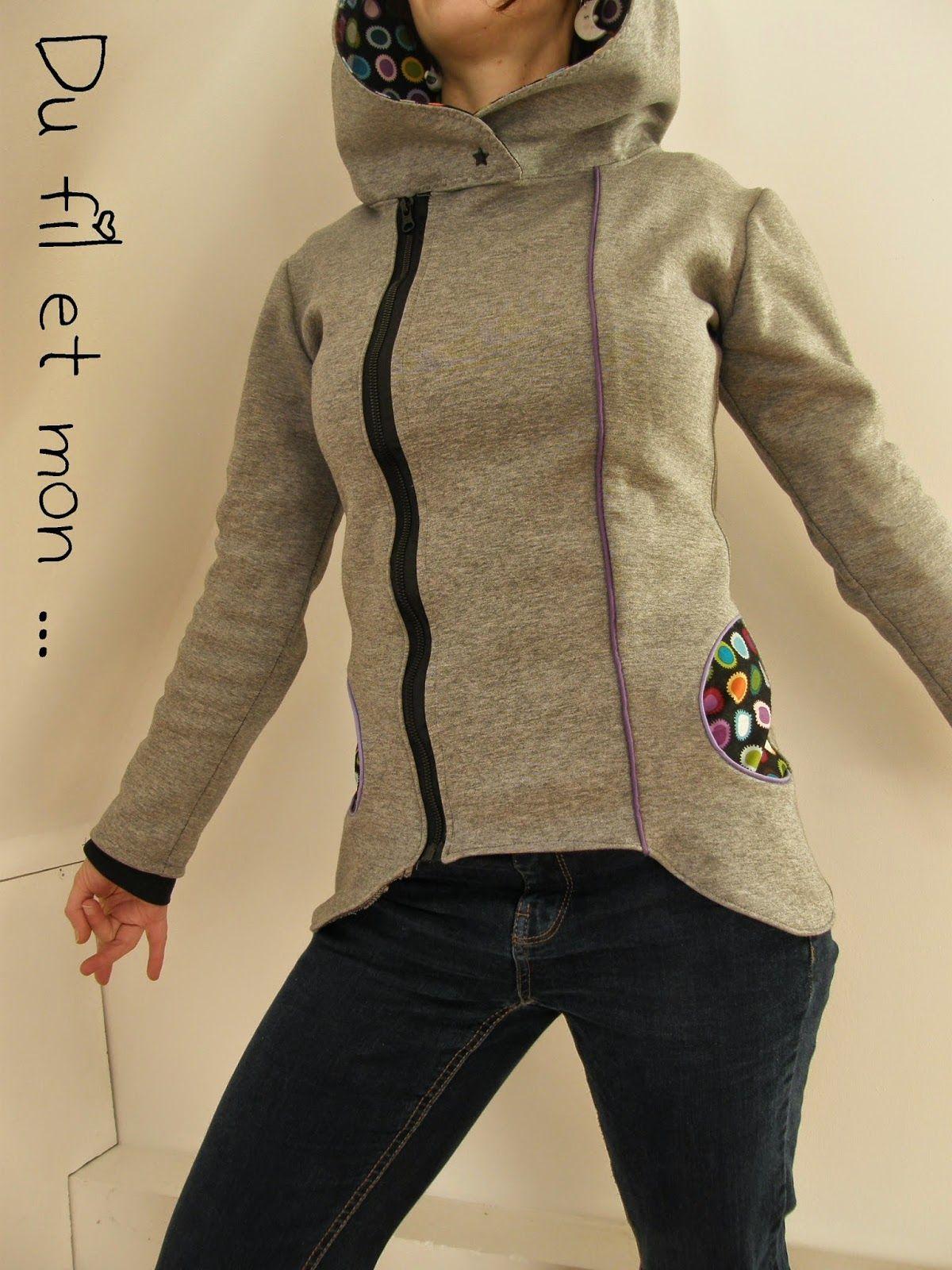 Veste capuche couture pour la maison sewing clothes tricot crochet et couture tops - Couture pour la maison ...