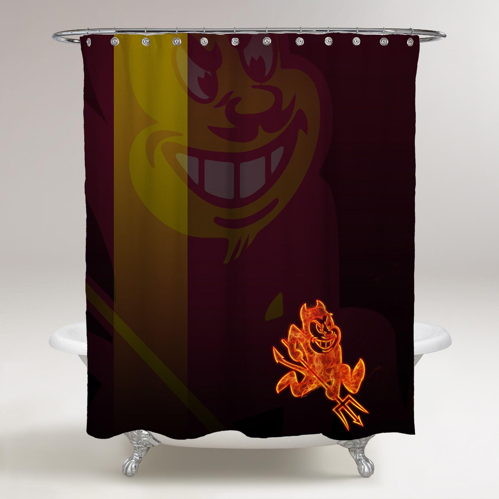 Arizona State Sun Devils Logo In Flames Wallpaper Logo Background