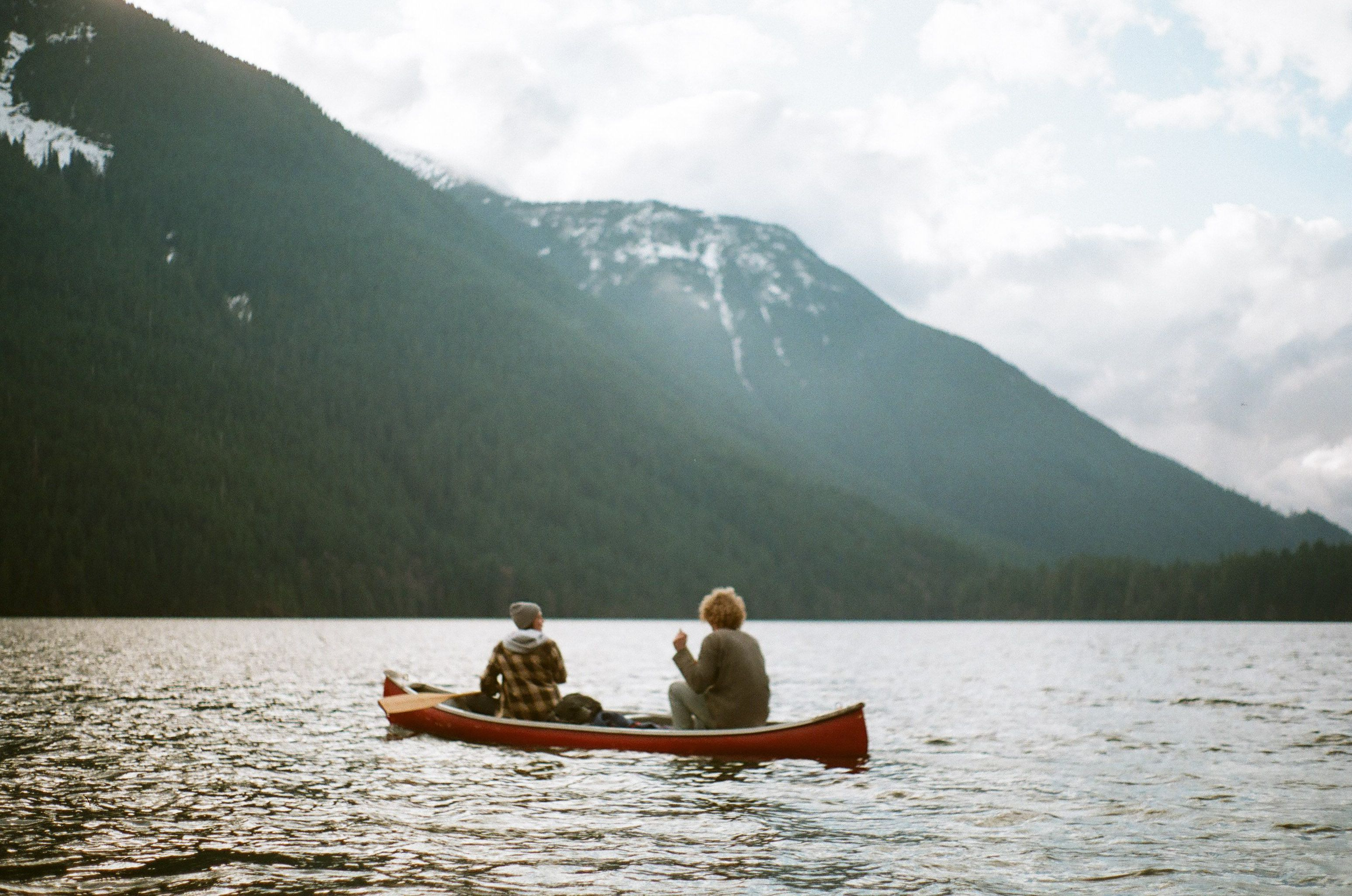 Winter canoeing on Chilliwack Lake - Canon AE-1 / Fuji film