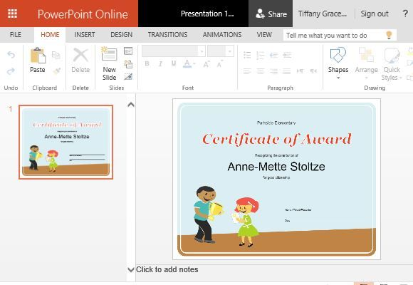 How to create printable award certificates in powerpoint microsoft the award certificate template for students is a wonderful template for making awards that young students will definitely love to have toneelgroepblik Image collections