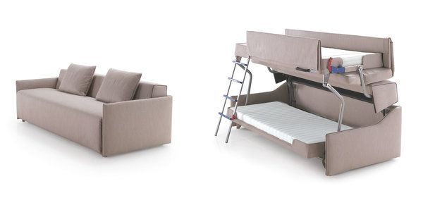 A Bunk Bed Born Of A Couch Couch Bunk Beds Bunk Beds Bunk Bed Designs