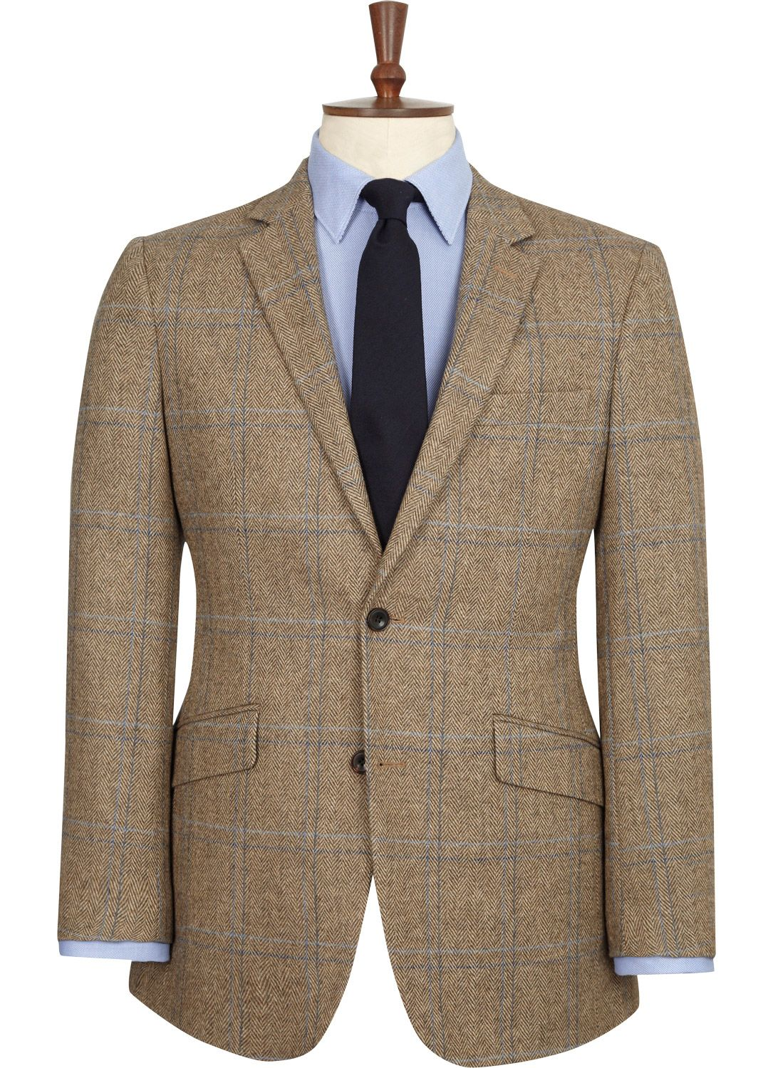 Austin Reed Light Brown Wool Tweed Jacket Business Casual Men Wool Tweed Jacket Mens Outfits